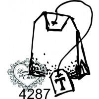 Carimbo saquinho chá p ref 4287 - 2.3 x 3.3 cm