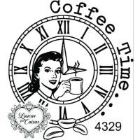 CARIMBO DAMA COFFEE TIME REF 4329- 5.2 X 5.3 CM