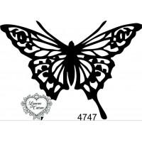 Carimbo borboleta g ref 4747- 8 x 5.6 cm