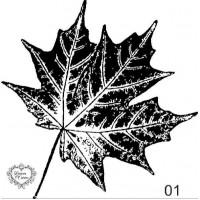 Carimbo folha de patano ref 01 - 6.6 x 6..