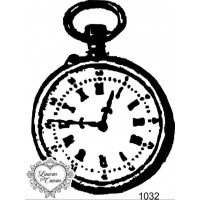 Carimbo relógio antigo ref 1032 - 5.7 x 7.5cm