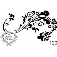 Carimbo arabesco ref 120 - 6 x 3.7 cm