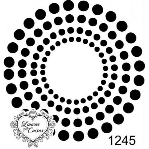 Carimbo  redondo círculo m ref 1245 tam 5.6 x 5.6 cm