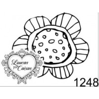 Carimbo flor p ref 1248 - tam 3.3 x 2.9 ..
