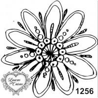 Carimbo flor ref 1256 - tam 5.8 x 5.8 cm