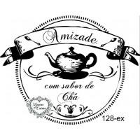 Carimbo Amizade com sabor de chá Ref. 128-ex