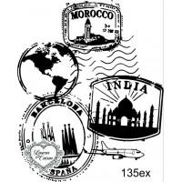 Carimbo selos ref 135ex tam 6,8 x 8,4 cm..