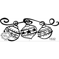 Carimbo Barra Bolinhas de Natal - 10 x 4..