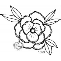 Carimbo flor g ref 1553 - tam 10 x 8.5 cm