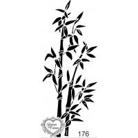Carimbo folhagens e arbustos ref 176 - 4.2 x 10 cm