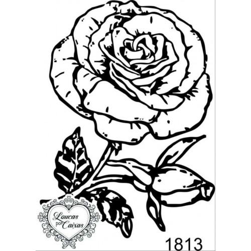 Carimbo rosa ref 1813