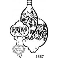 Carimbo Bolas de Natal - 5 x 7,5 cm - Ref. 1887