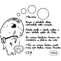 Carimbo drumond - ref 1933 - 9.6 x 8 cm