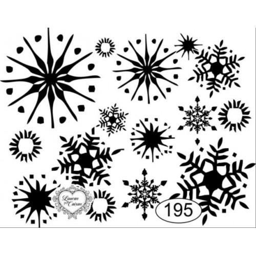 Carimbo flocos de gelo ref 195 - 7 x 5,5 cm