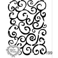 Carimbo fundo arabescos ref 199- 5.7 x 7 cm
