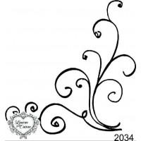 Carimbo arabesco ref 2034 - 8.2 x 8.1 cm..