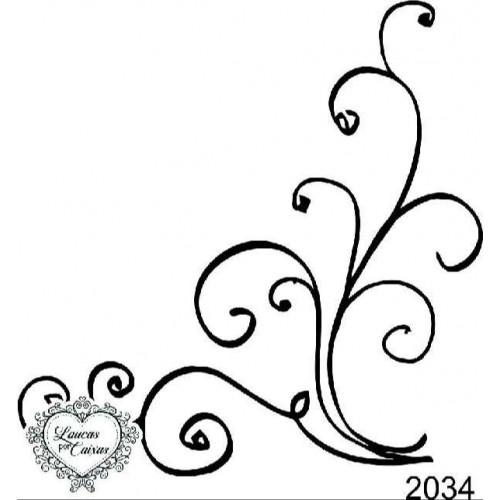 Carimbo arabesco ref 2034 - 8.2 x 8.1 cm