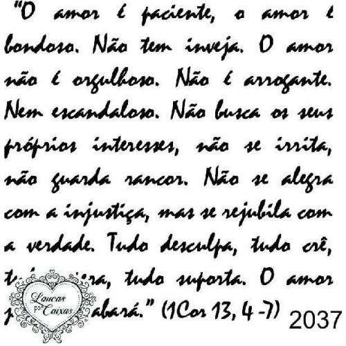 Carimbo texto ref 2037 - 7.2 x 7.5 cm