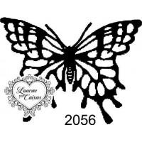 Carimbo borboleta p ref 2056 tam 5 x 3.8 cm