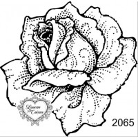 Carimbo flor ref 2065 tam 7 x 7 cm..