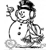 Carimbo natal boneco gelo ref 212 - 5.9 x 7 cm