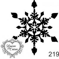Carimbo natal floco neve ref 219 - 4.6 x..