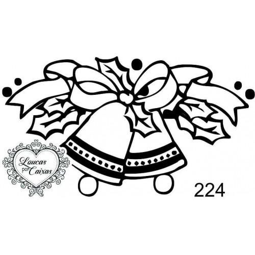 Carimbo sinos natal ref 224