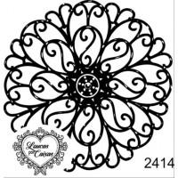 Carimbo mandala flor - 6 x 6.15 cm