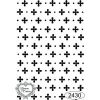 Carimbo estampa fundo ref 2430 tamanho 5,6 x 8,4 cm