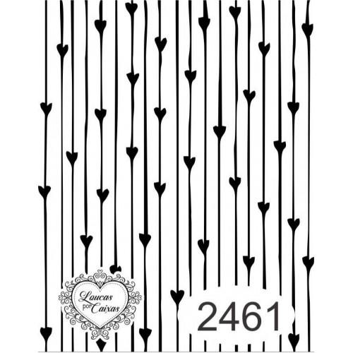 Carimbo estampa listras com corações ref 2461 tamanho 6  x 7,5  cm