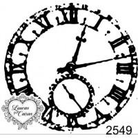 Carimbo relógio ref 2549 - tam 5.6 x 5.5 cm