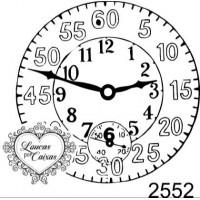 Carimbo relógio ref 2552 - tam 4.5 x 4.5 cm