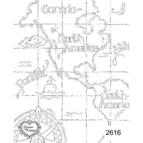 Carimbo mapa ref 2616 - tam 9 x 11.5 cm