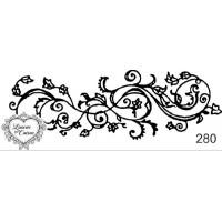 Carimbo arabesco ref 280- 8.9 x 3.3  cm..