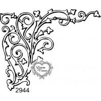 Carimbo Cantoneira Arabescos - 8 x 6,5 cm - Ref. 2944