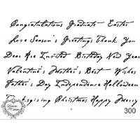 Carimbo texto ref  300 - 10 x 7.2  cm
