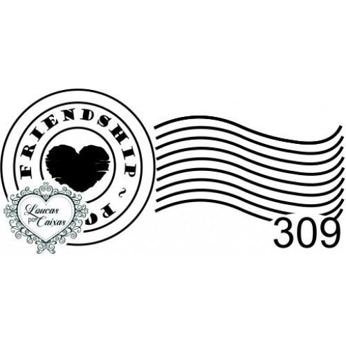 Carimbo selo coração ref 309