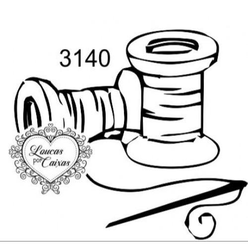 Carimbo carretéis ref 3140  tam - 5 x 4,5 cm