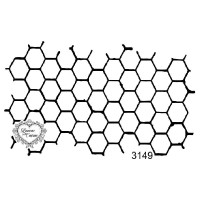 Carimbo colmeia ref 3149  tamanho - 10,3 x 6,1  cm
