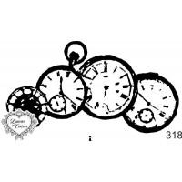Carimbo relógios  ref  318 - 9 x 5 cm