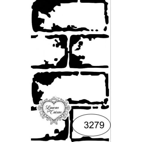 Carimbo tijolinhos ref 3279 - tam 4.2 x 7.7