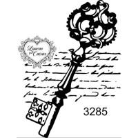 Carimbo chave com escrito ref 3285 tam 4.5 x 6.5 cm