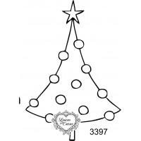 Carimbo Árvore de Natal - Ref 3397 - 6cm..