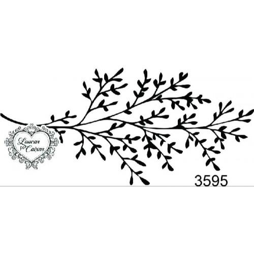 Carimbo galho ref 3595 tamanho 8,2 x 3,8 cm