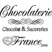 Carimbo Chocolaterie France 9 x 7 cm..