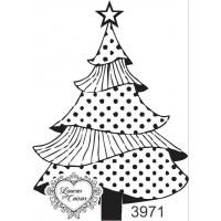 Carimbo Árvore de Natal - 5 x 7 cm- Ref. 3971