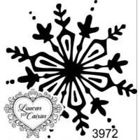 Carimbo  floco neve ref 3972 - 4 x 4.2 cm