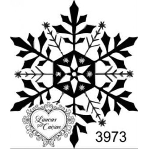Carimbo floco neve ref 3973 - 3.2 c 3.7 cm