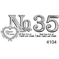 Carimbo número 35 ref  4104  -  5 x 2.3 cm