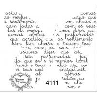 Carimbo borboleta texto ref 4111 - tam 7..